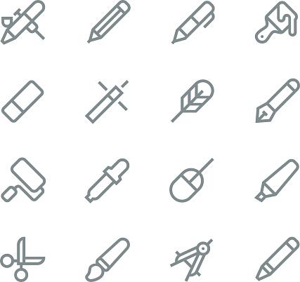 Design tools icons - line