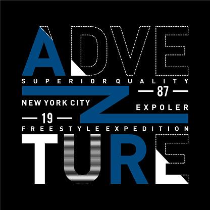 ADVENTURE design typography vintage vector illustration for t shirt