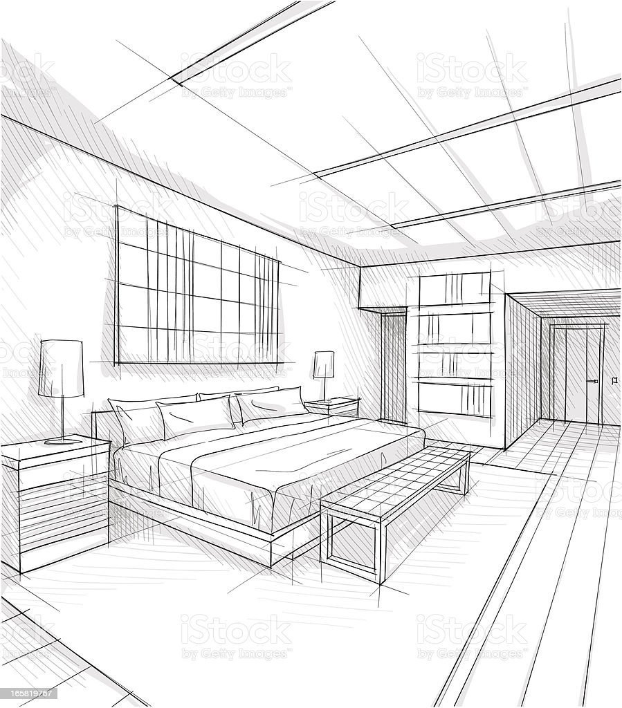 bedroom clipart black and white. design vector art illustration bedroom clipart black and white