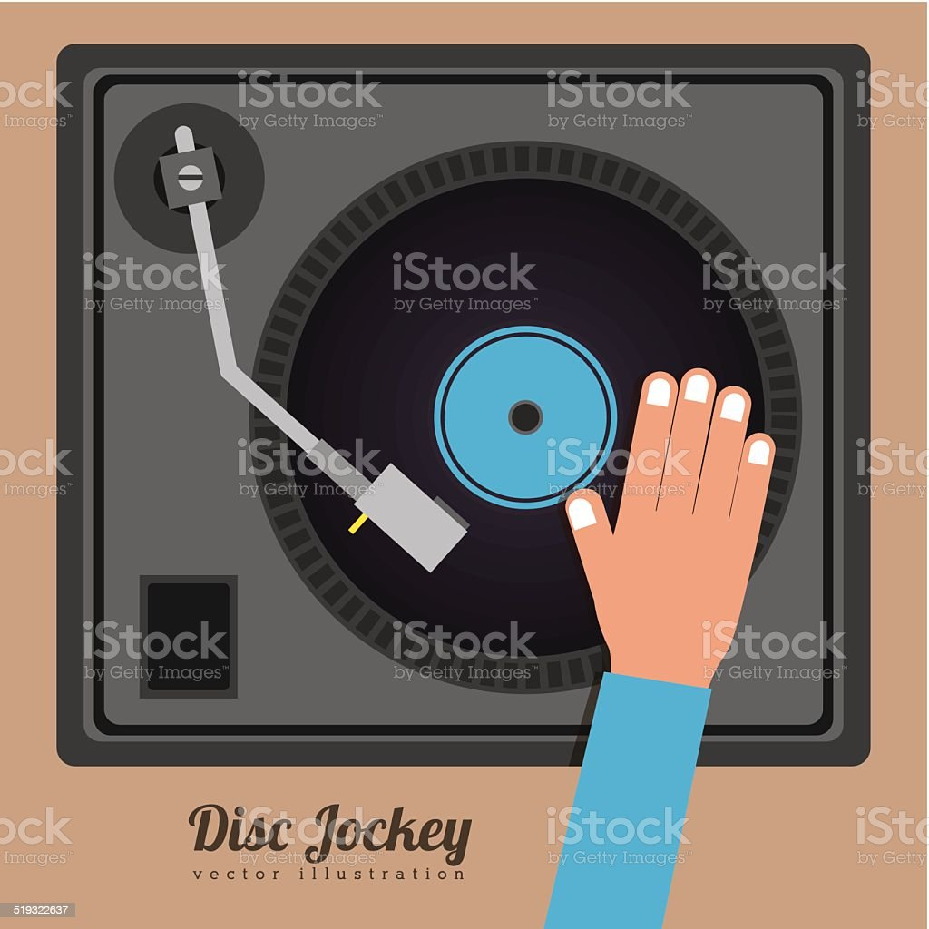DJ design vector art illustration