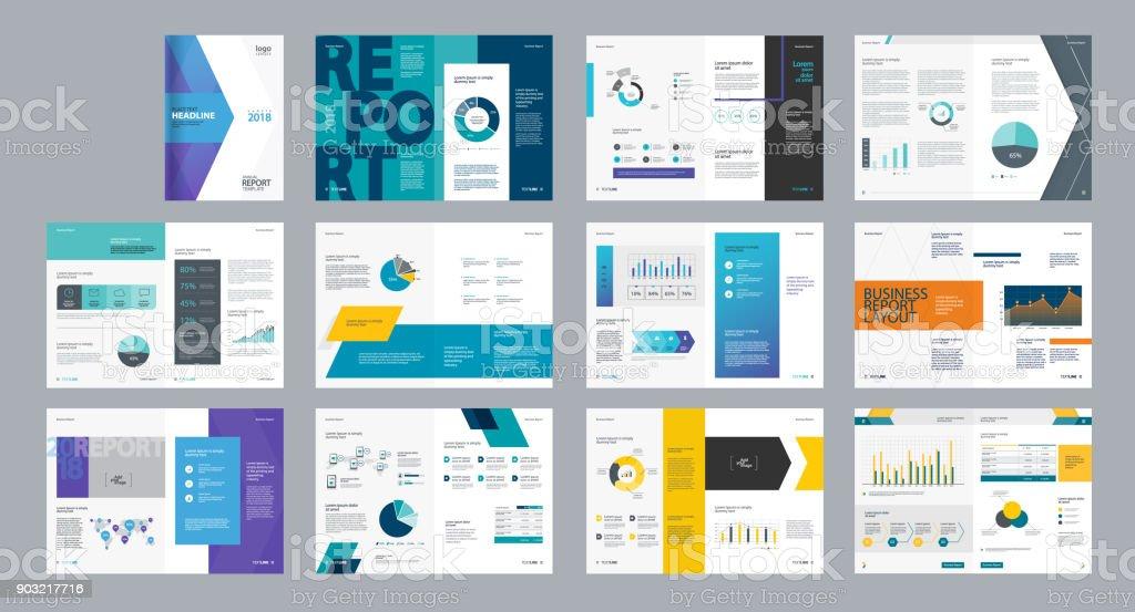 Gestalten Sie Vektor Vorlage Layout Für Firmenprofil Jahresbericht ...