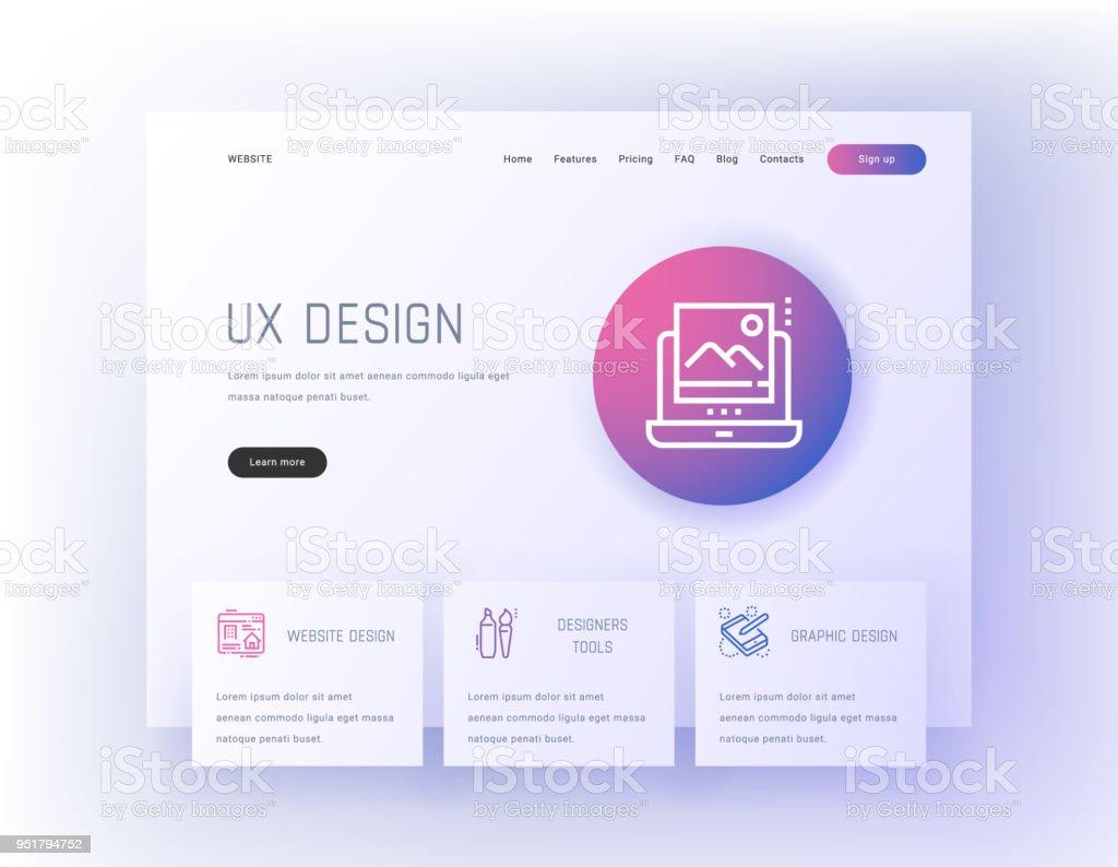 Ilustración de Herramientas De Diseño Ux Web Gráfico Diseñadores De ...