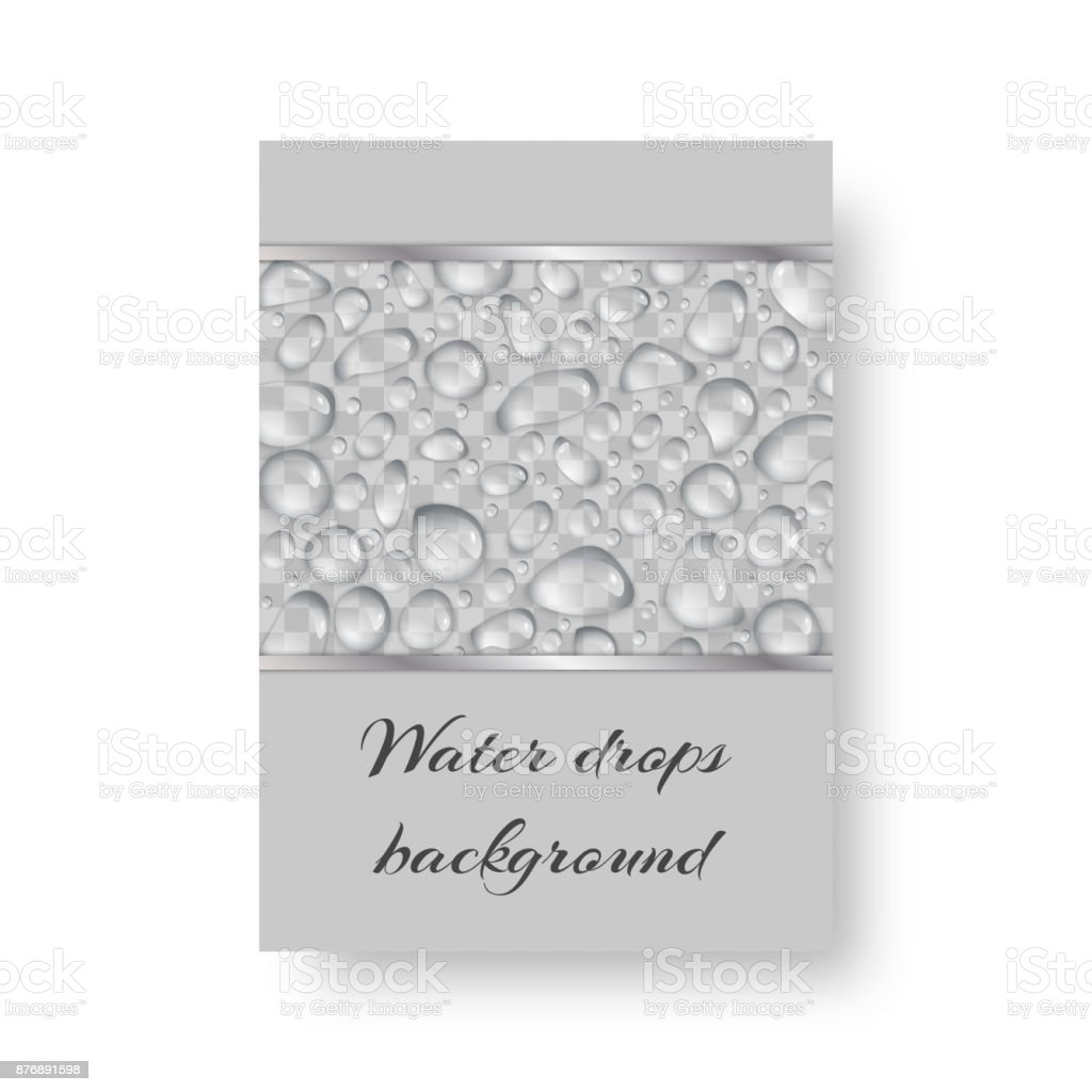 Design with droplets vector art illustration