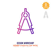 istock Design Workshop Continuous Line Editable Stroke Icon 1266350576