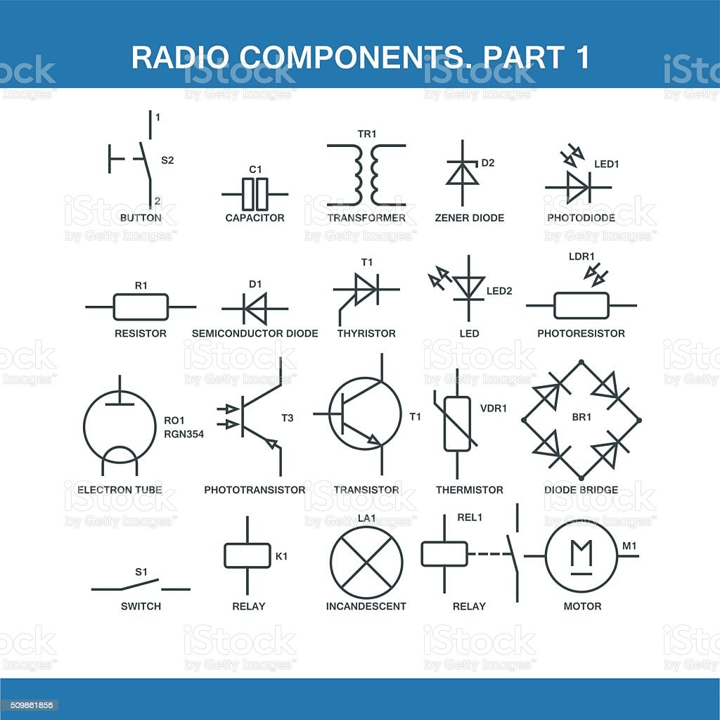Designation Of Components In The Wiring Diagram Stock Illustration -  Download Image Now - iStockiStock