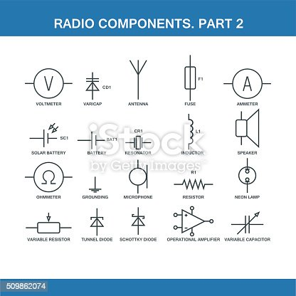 Designation Of Components In The    Wiring       Diagram    Stock    Vector    Art   More Images of Battery