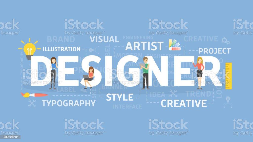デザイナーの概念図。 ベクターアートイラスト