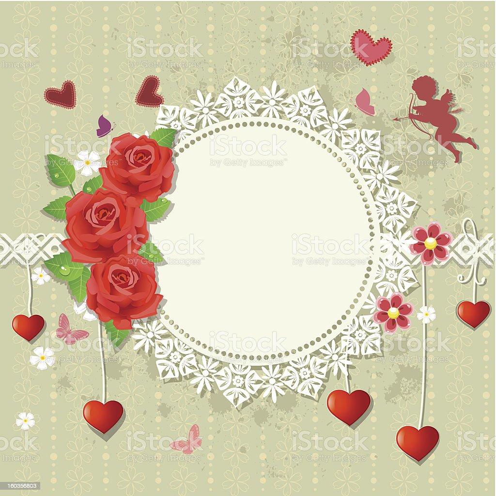 Designer frame heart royalty-free stock vector art