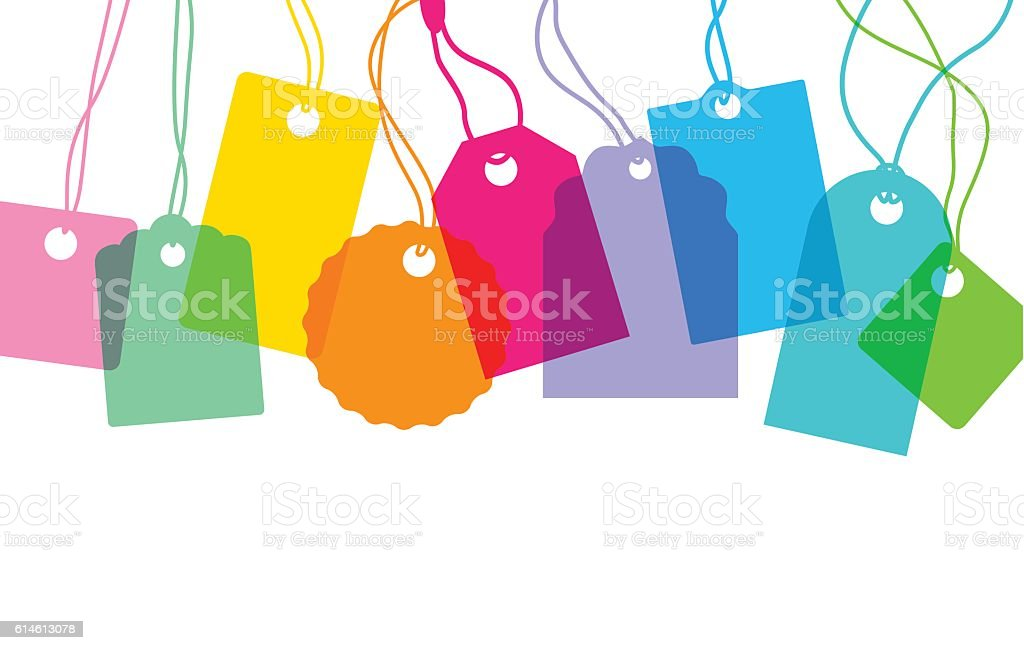 Designer labels vector art illustration
