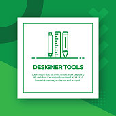 Designer Tools Vector Line Icon - Simple Thin Line Icon, Premium Quality Design Element