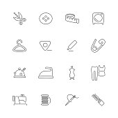 The thin line icon set on the white background.