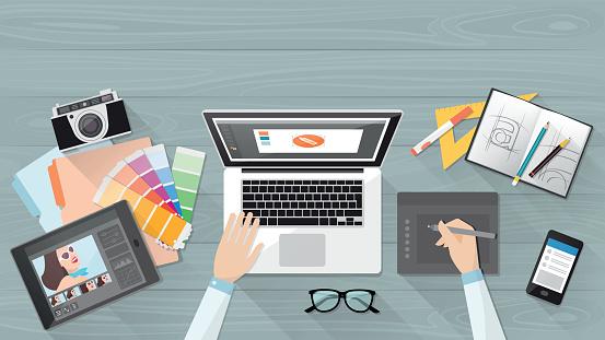 Designer stock illustrations