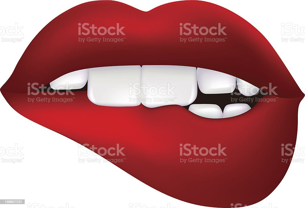 royalty free biting lip clip art vector images illustrations istock rh istockphoto com