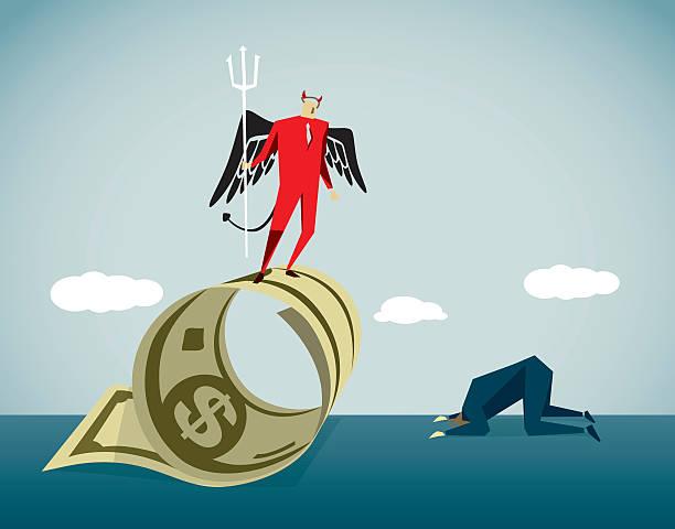 desire - evil money stock illustrations, clip art, cartoons, & icons