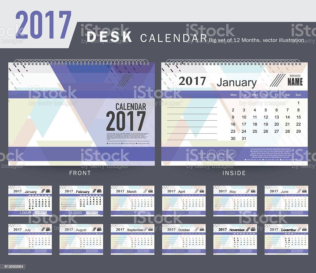 2017 calendar office template