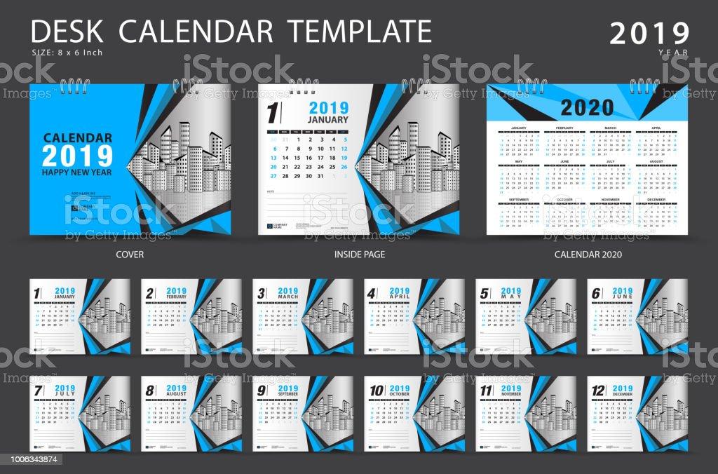 Schreibtischkalendervorlage 2019 Satz Von 12 Monaten Planer Woche ...