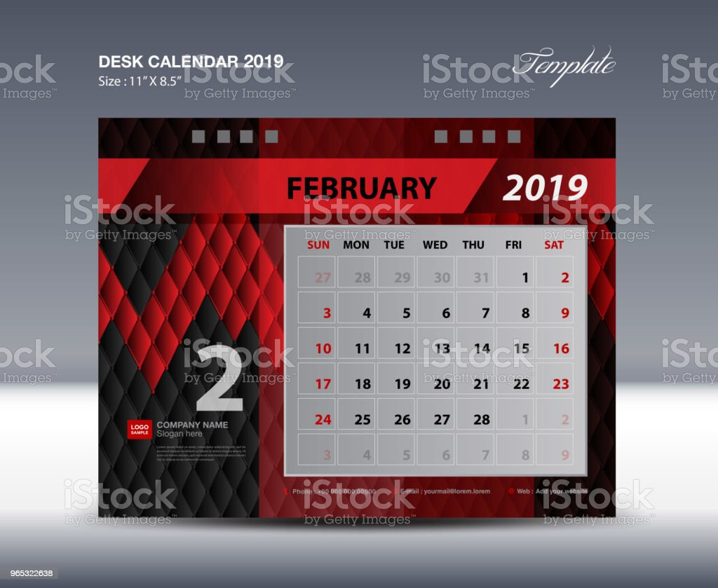 Desk Calendar 2019 Template, Week starts Sunday, Stationery design, flyer design vector, printing media creative idea design, Black and red background desk calendar 2019 template week starts sunday stationery design flyer design vector printing media creative idea design black and red background - stockowe grafiki wektorowe i więcej obrazów abstrakcja royalty-free