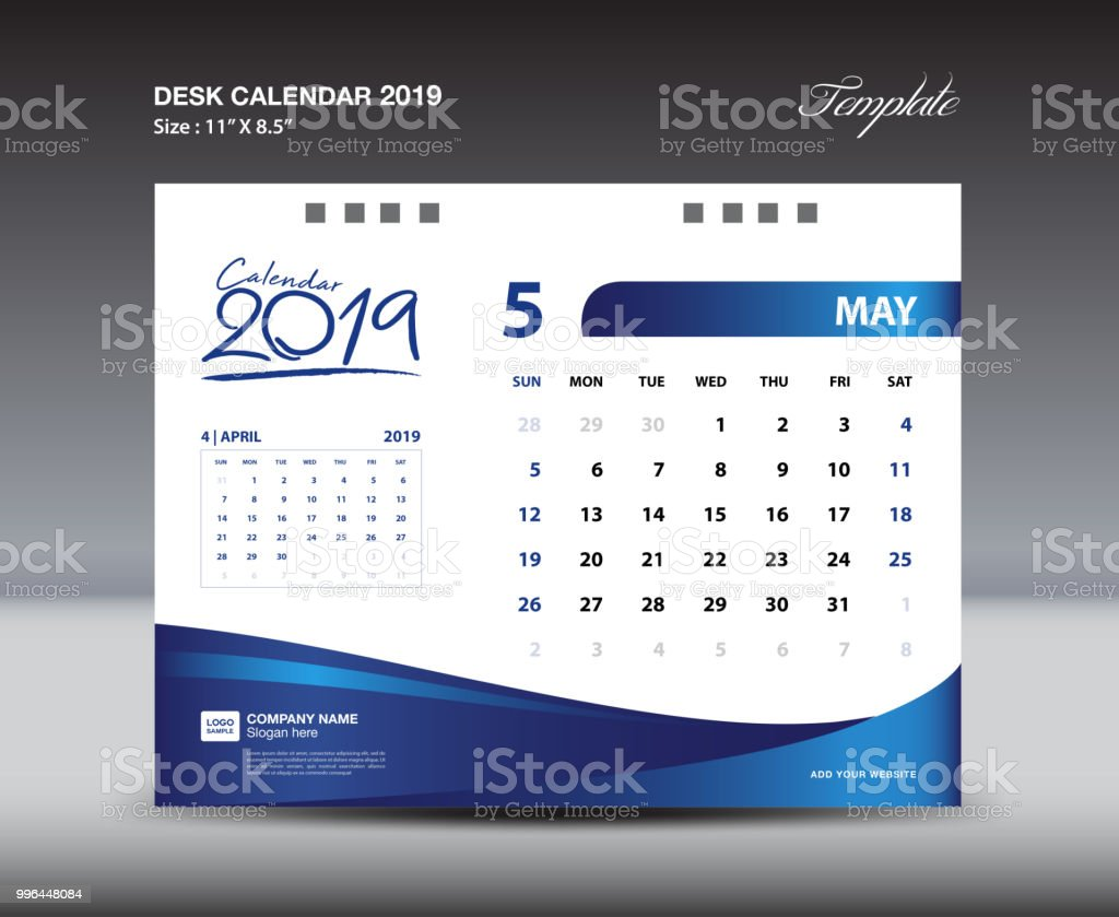 may desk calendar 2019 template week starts sunday stationery design