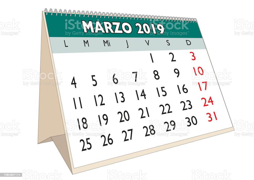 Desk Calendar March 2019 Spanish Il Ration