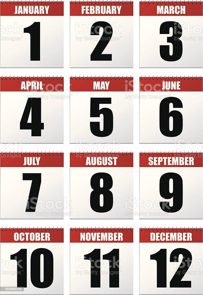 Desk Calendars royalty-free stock vector art