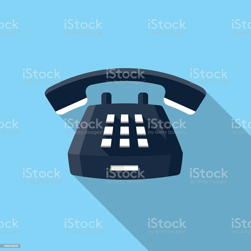 Desk Phone icon vector art illustration