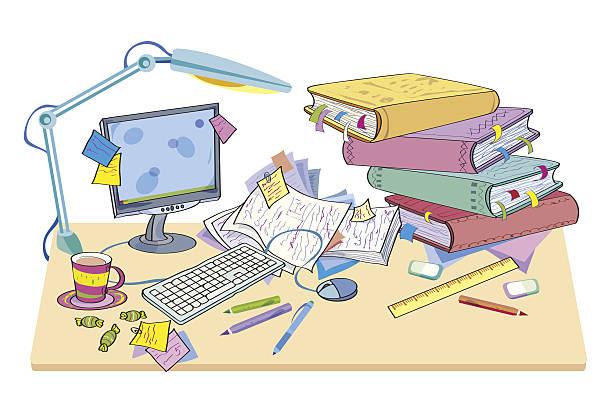 Bürotisch clipart  Best Clutter Illustrations, Royalty-Free Vector Graphics & Clip Art ...