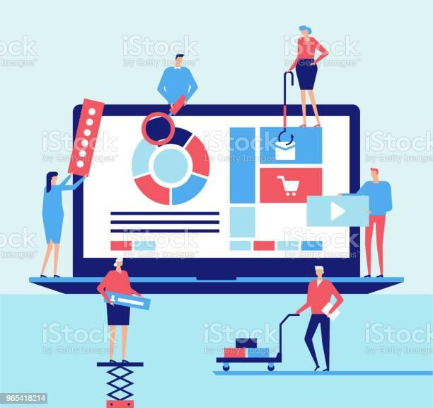 Vetores de Aplicação Desktop Ilustração De Estilo Design Plano e mais imagens de Banner web