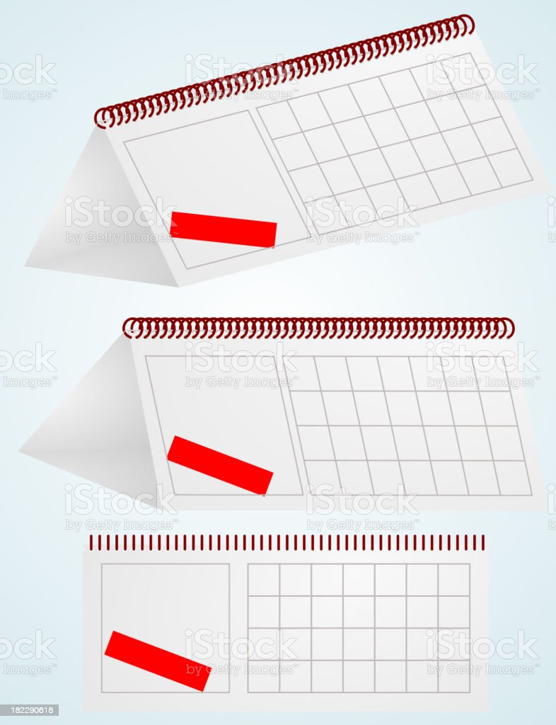 desktop calendar. Vector illustration. royalty-free stock vector art