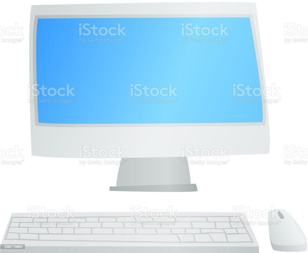 Desktop computer vector isolated ilustração de desktop computer vector isolated e mais banco de imagens de computador royalty-free