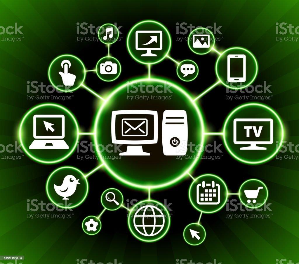 Desktop Mail Internet Communication Technology Dark Buttons Background desktop mail internet communication technology dark buttons background - stockowe grafiki wektorowe i więcej obrazów czarne tło royalty-free