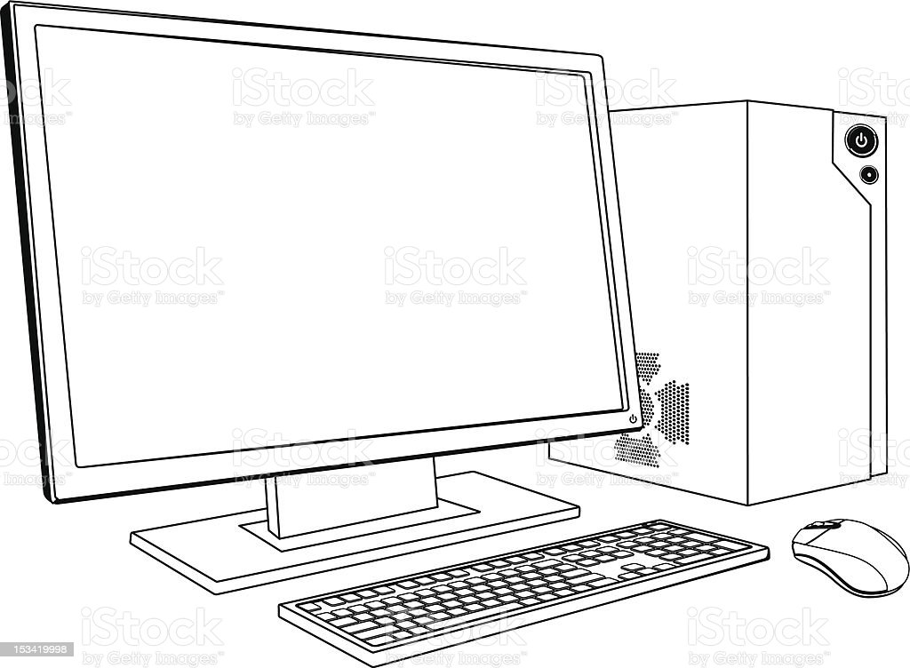 desktop pc computer workstation stock vector art  u0026 more