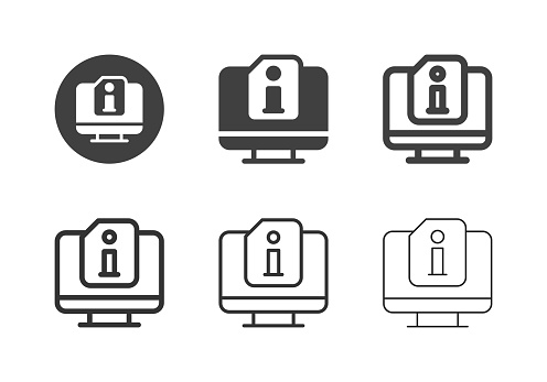 Desktop pc Information Icons - Multi Series