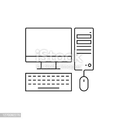istock Desktop System Line Icon 1270092270