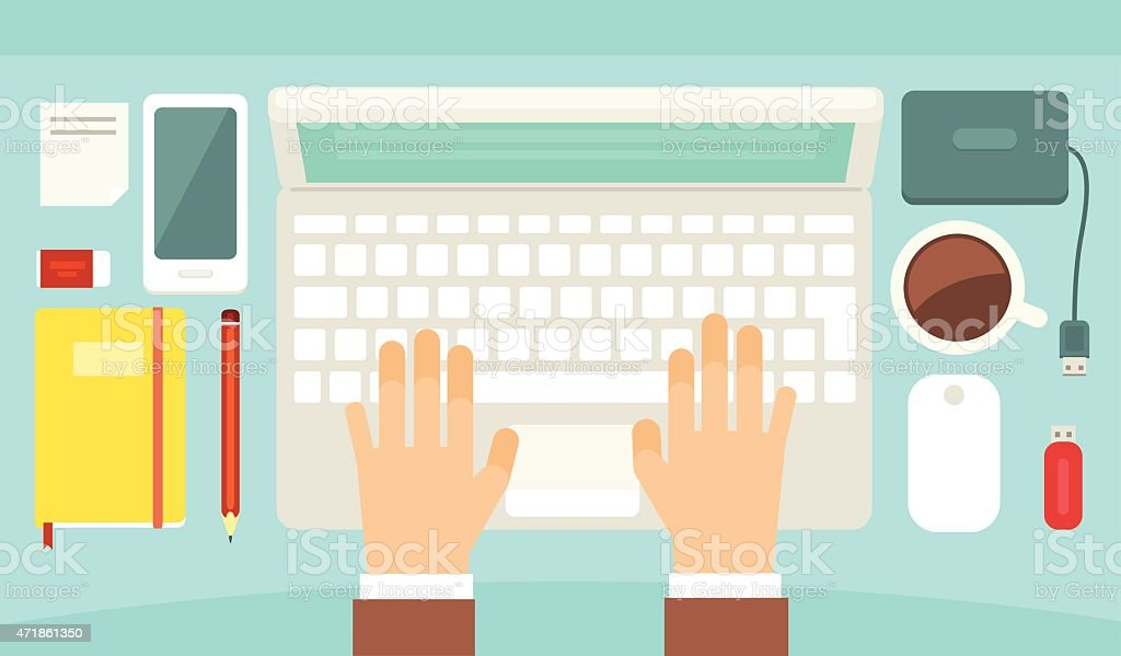 Desktop royalty-free desktop stock vector art & more images of 2015