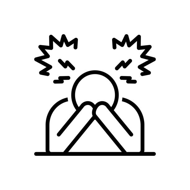 Despair disappointment Icon for despair, disappointment, frustration, hopelessness, discouragement, depression crisis stock illustrations