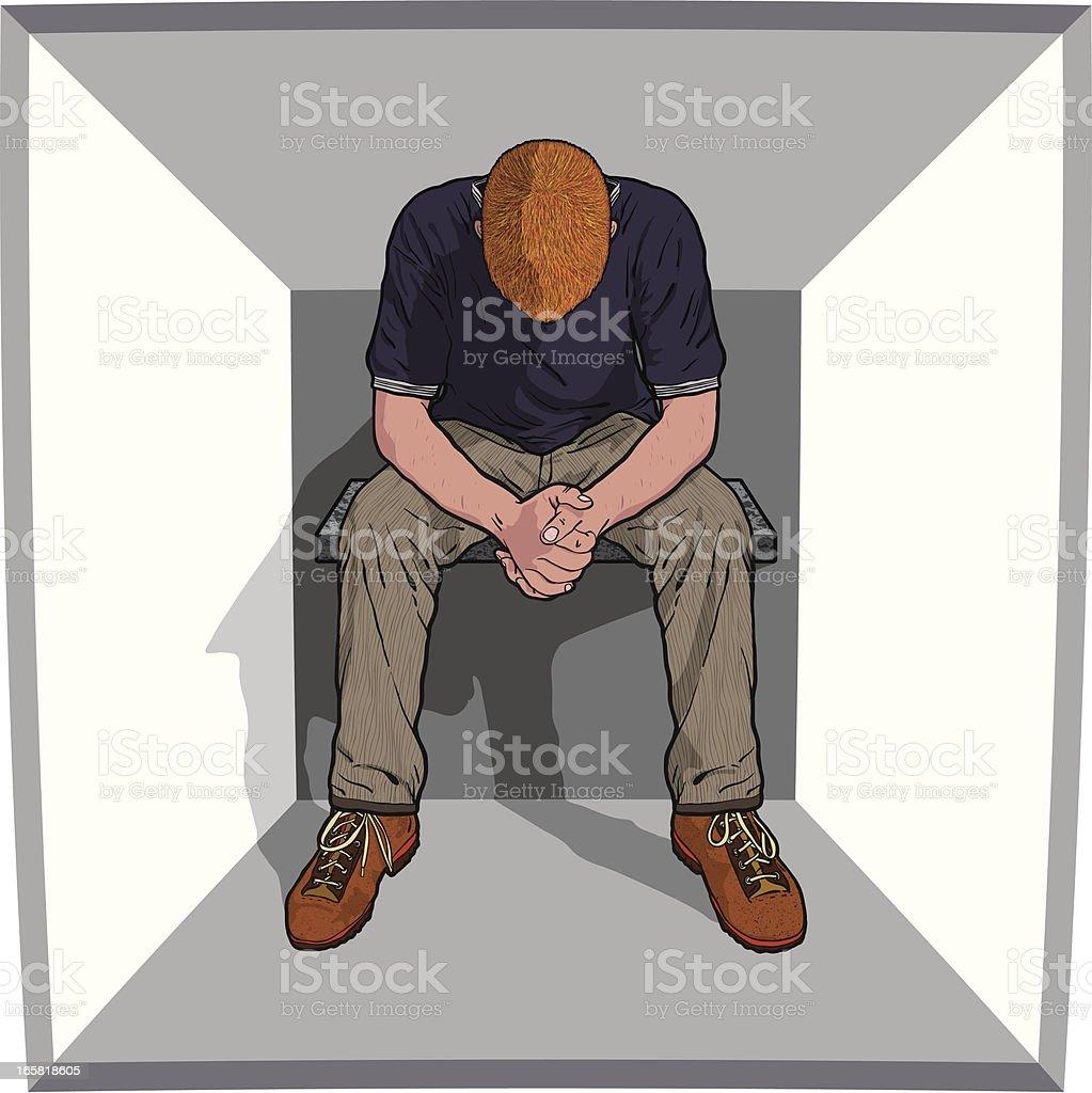 despair vector art illustration