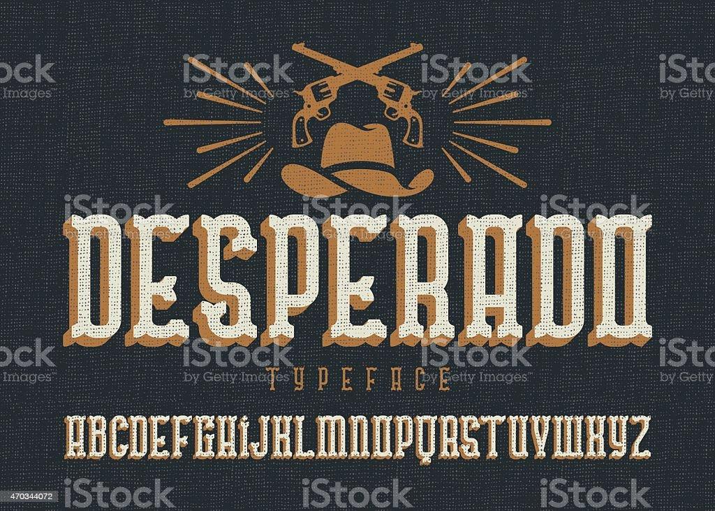 «Desperado «de caractères. - Illustration vectorielle
