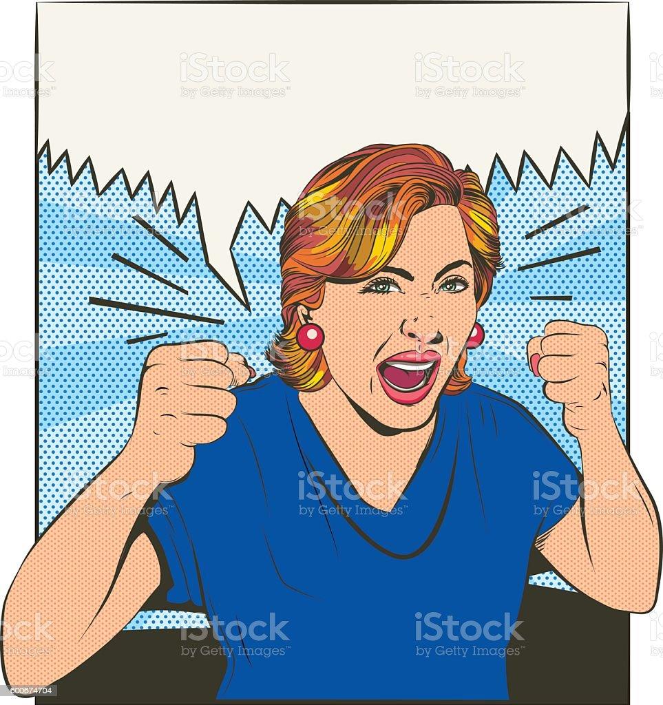 desperate women vector art illustration