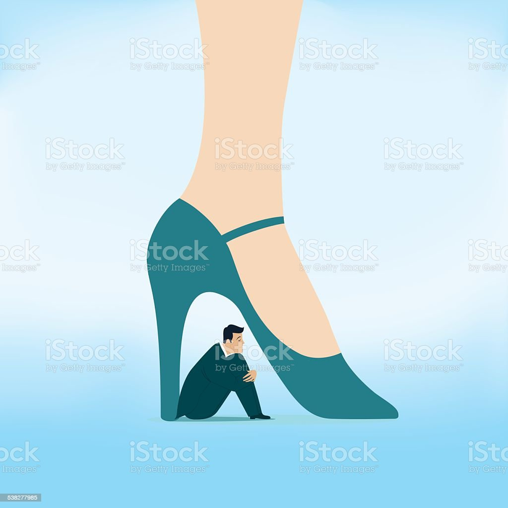 Desperation of men in the relationship vector art illustration