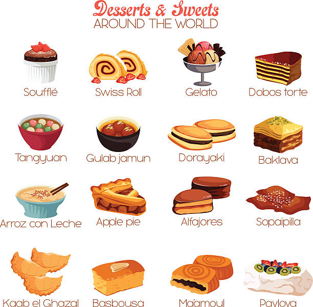 Dessert and Sweets Icons vector art illustration