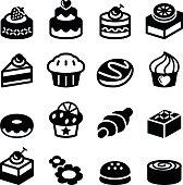 Dessert & bakery icon set