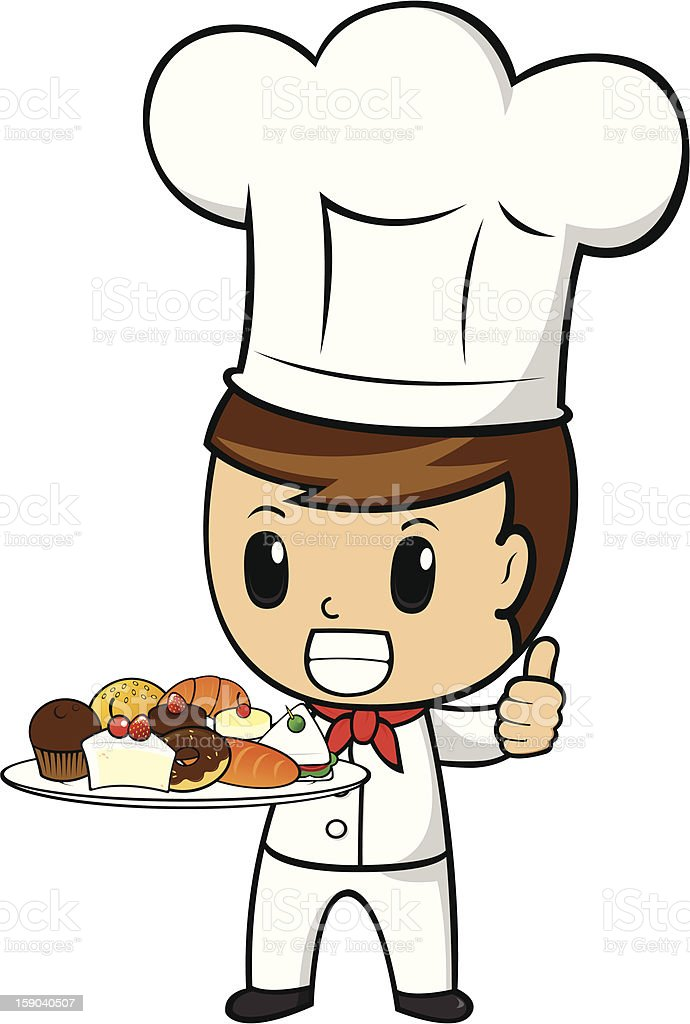 Dessert Chef Show Thumb Up royalty-free dessert chef show thumb up stock vector art & more images of adult
