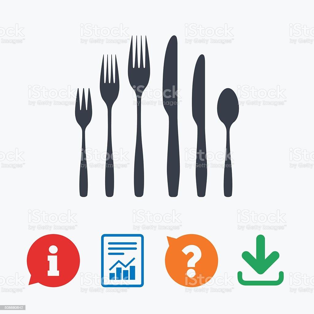 Ilustración de Postre Tenedor Cuchillo Cucharadita Cubiertos De y ...