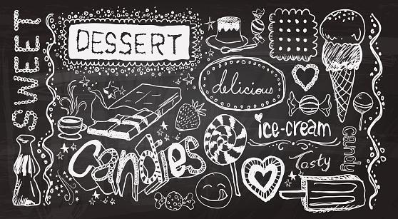 Dessert hand skecth collection