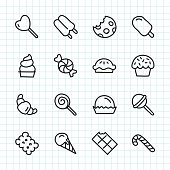 Dessert Icon Hand Drawn Series Vector EPS File.