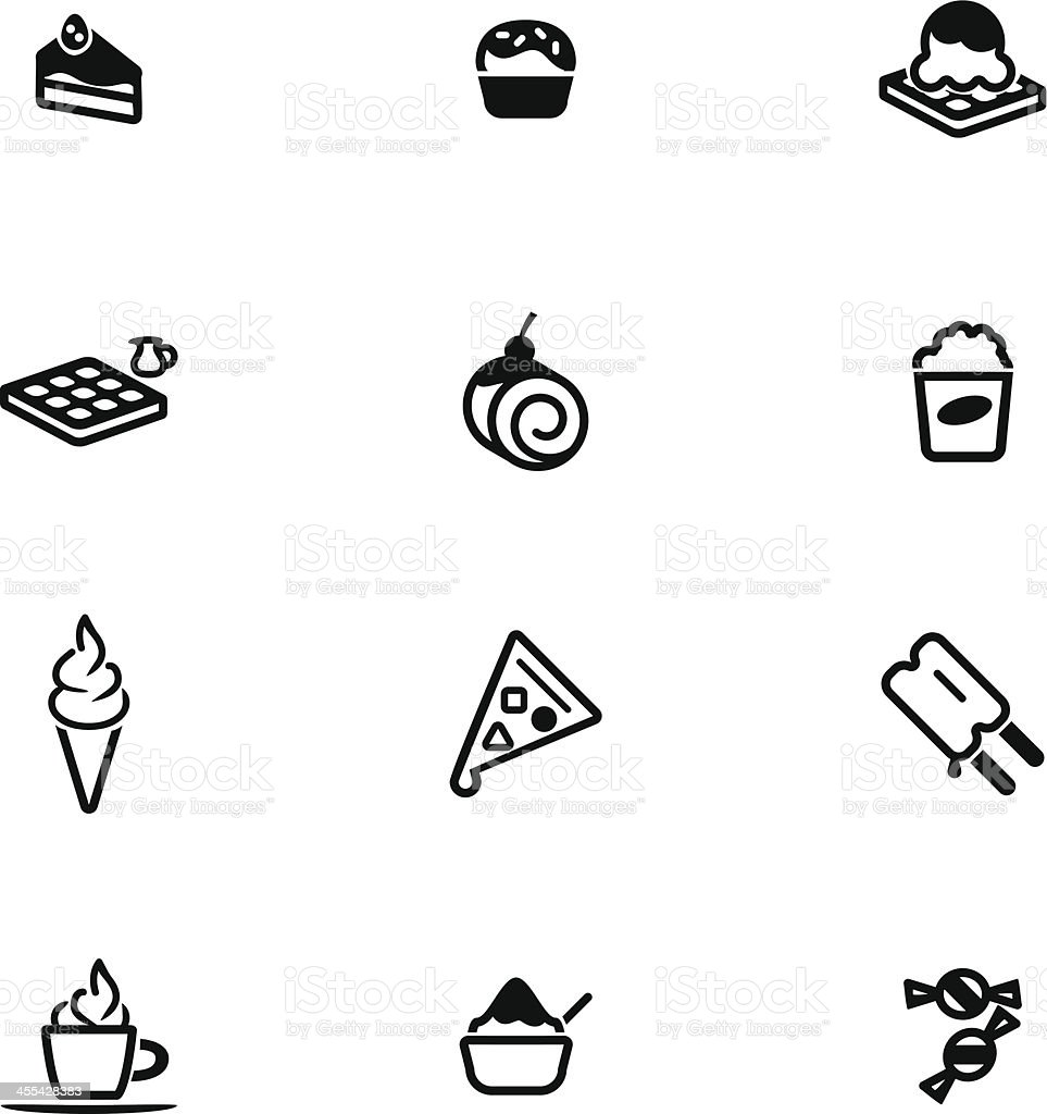 Dessert Icon Set vector art illustration