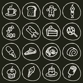 Vector File of Dessert Icon Set