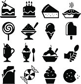 Dessert icon set. Professional vector icons for your print project or Web site. See more in this series.