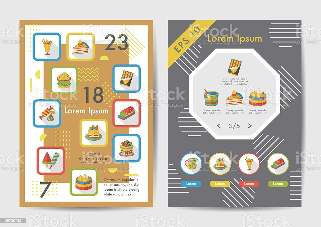 Dessert icons set with long shadow,eps10 royalty-free dessert icons set with long shadoweps10 stock vector art & more images of birthday