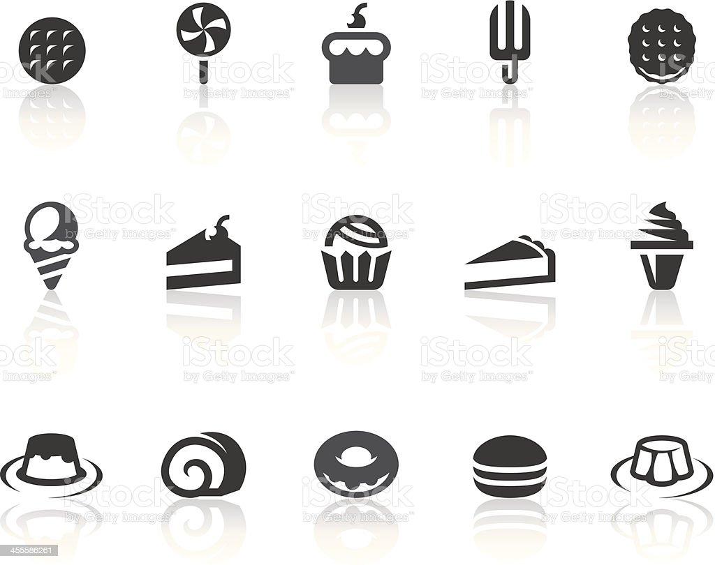 Dessert Icons   Simple Black Series vector art illustration